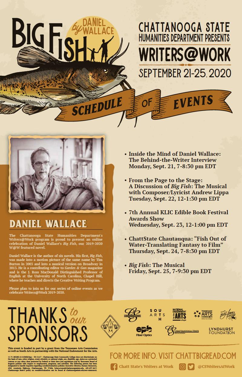 W@W 2020 Big Fish Schedule Poster