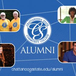 ALUMNI featured including photo of alum Tabatha Armour and 3 members from Class of 1967, the first graduating class of ChattState
