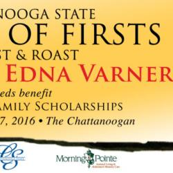 Image of Dinner of First Billboard with caricature of Edna Varner, honoree, Proceeds benefit First in Family schoalrhsip, event Thursday, Nov. 17, 2016 , visit chattanoogastate.edu/dof