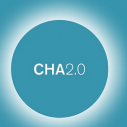 Cha 2.0 logo in deep turquoise color