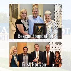 2 photos of award recipients