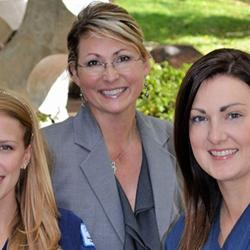 Two Sonography Students and Instructor