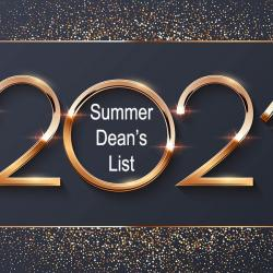2021 word with  summer dean's list words