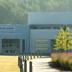 exterior view of volkswagen academy