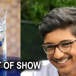 best of show award with winner Vraj Patel