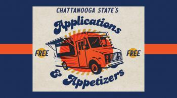 clip art of food truck announcing applications and appetizers