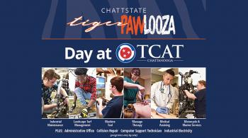day at tcat with photos and program names
