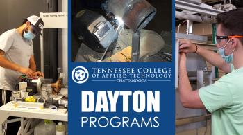students in industrial maintenance mechatronics, industrial electricity and welding pictured