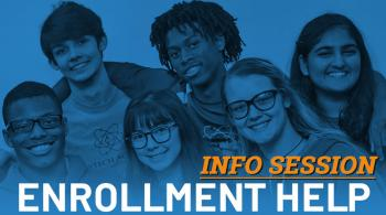 early college students collage promoting information sessions