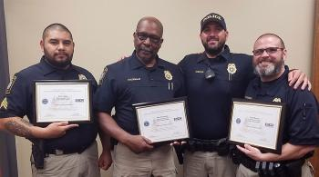 chattstate police officers with their awards