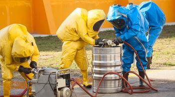 hazardous waste workers