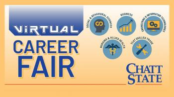 division icons represent the fields that are seeking to hire employees at the career fair