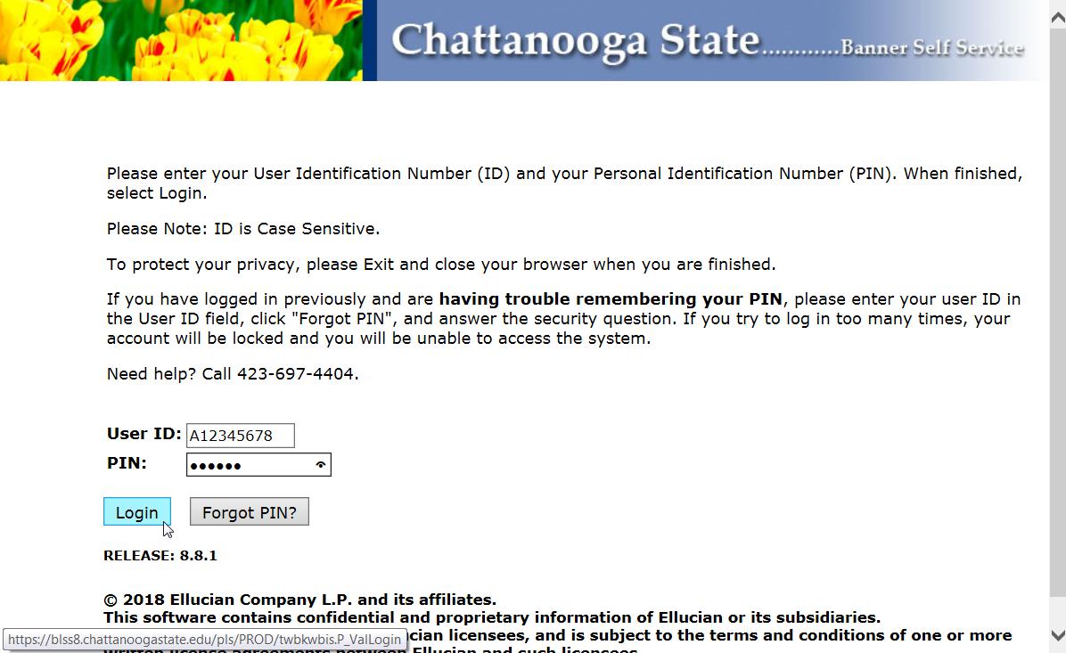 Tigerweb login state How do